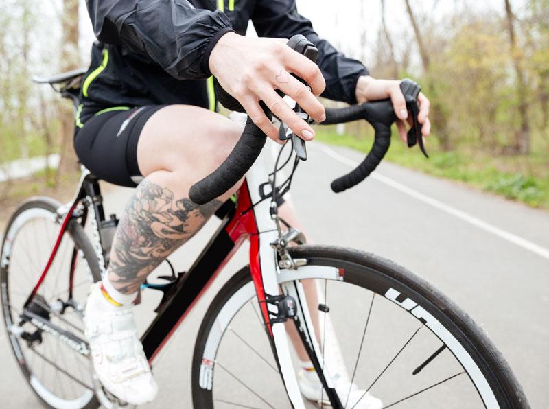 Bici da corsa in carbonio