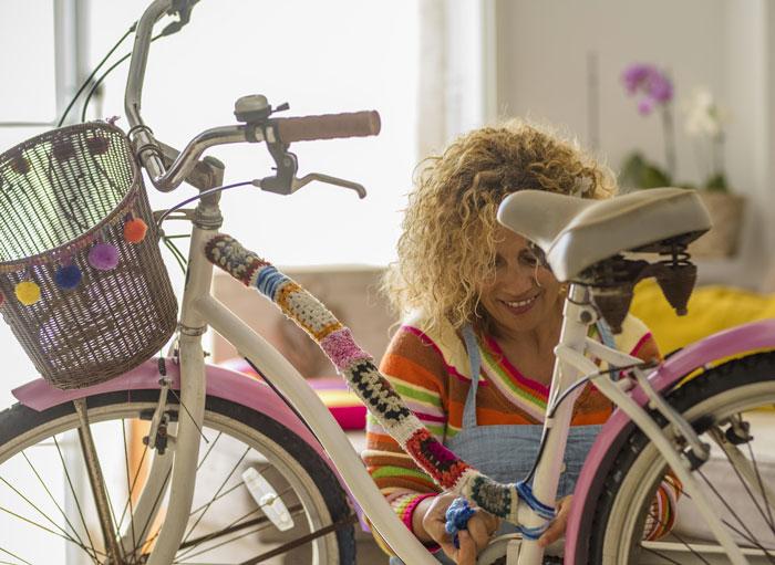 Sella per bici Retro